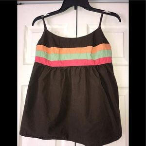 Gap colorful stripes Babydoll Cami Top size Small